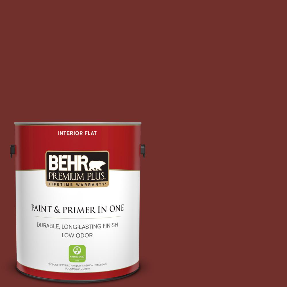 1 gal. #BXC-76 Florence Red Flat Low Odor Interior Paint and