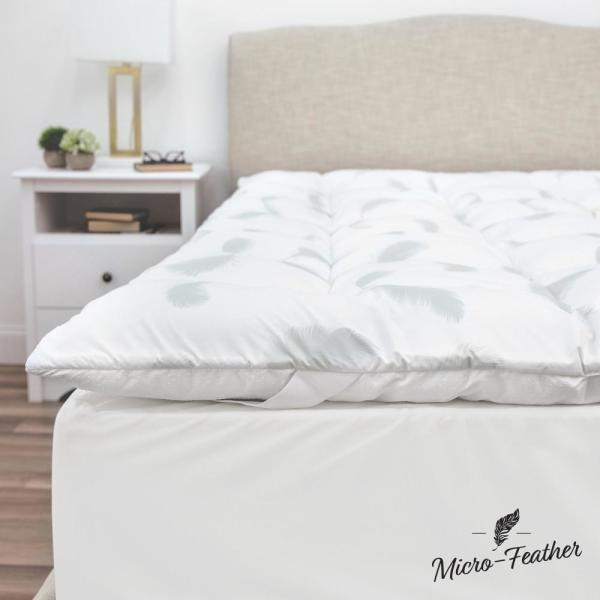 f2f654513cf6 Quilted 2 in. Queen Memory Foam and Micro-Feather Mattress Topper