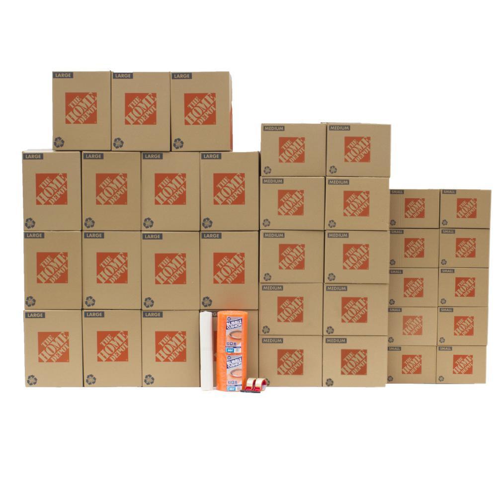 The Home Depot 35-Box Medium Moving Box Kit