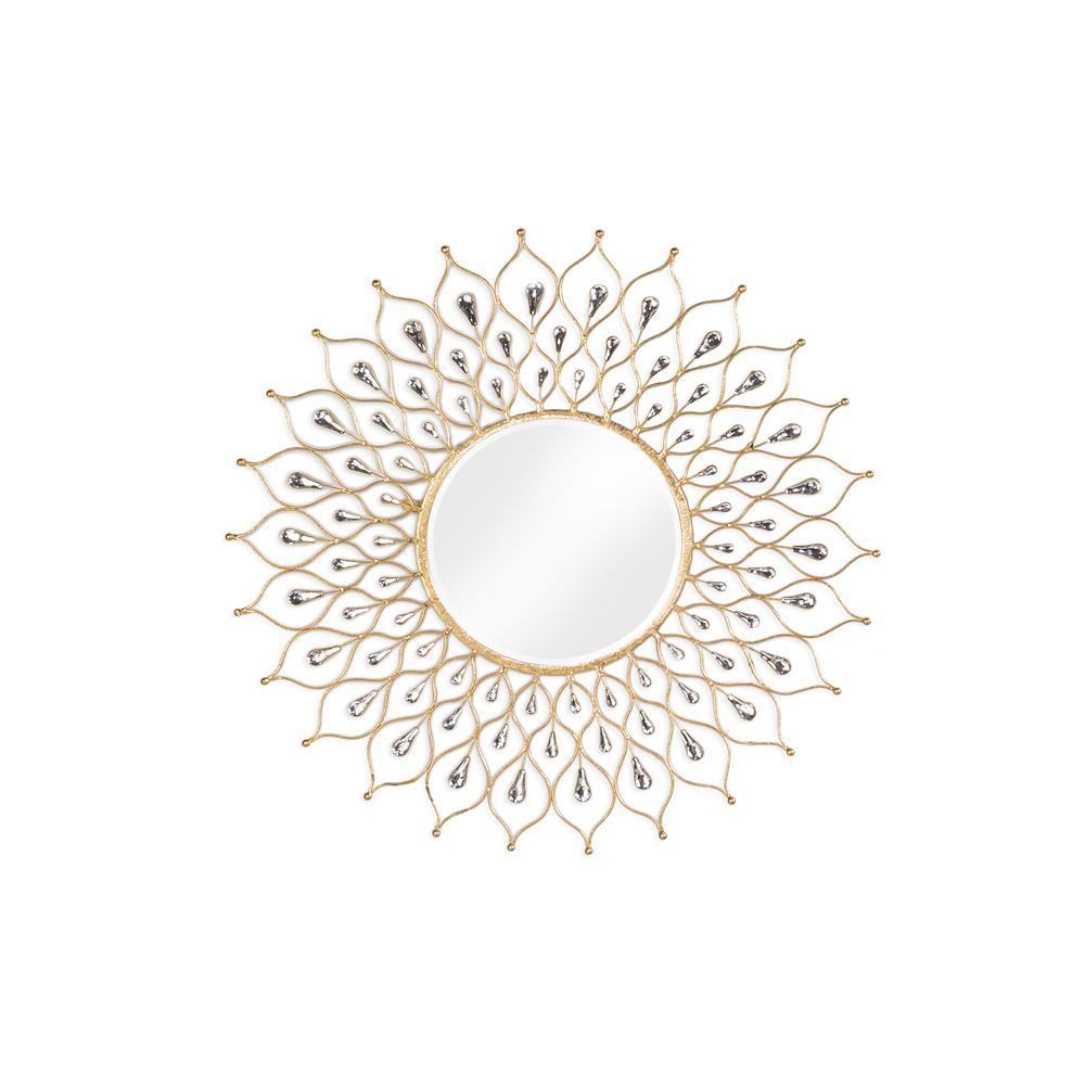 Sunburst Gold Wall Mirror