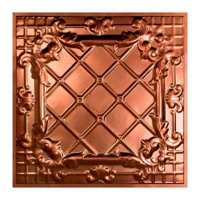 Toledo 2 ft. x 2 ft. Lay-in Tin Ceiling Tile in Vintage Bronze