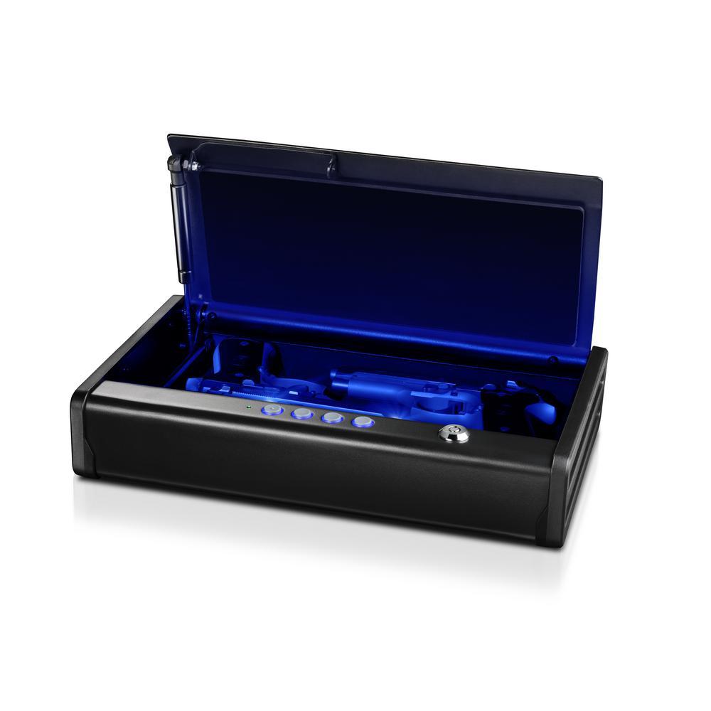 2 Gun Quick Access Electronic Combination Lock Pistol Safe With Interior  LED Light, Black