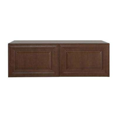 Benton Assembled 36x12x24 in. Refrigerator Wall Cabinet in Butterscotch