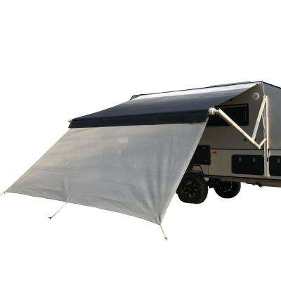 144 in. x 72 in. Gray RV Awning Sun Screen