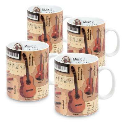 Konitz 4-Piece Mug of Knowledge Music Porcelain Mug Set