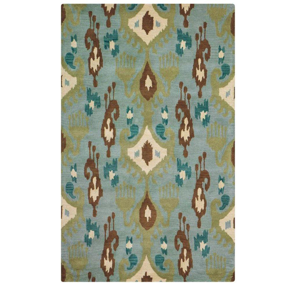 Home Decorators Collection Trinket Blue 3 ft. 6 in. x 5 ft. 6 in. Area Rug