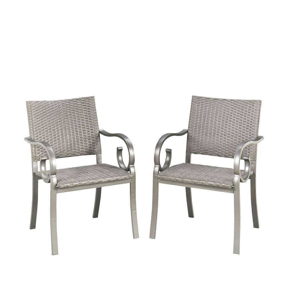 Capri Synthetic-Weave Outdoor Dining Chair (Pack of 2)