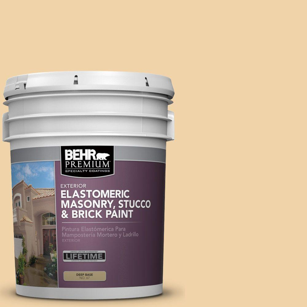 5 gal. #MS-27 Sunshine Elastomeric Masonry, Stucco and Brick Exterior Paint