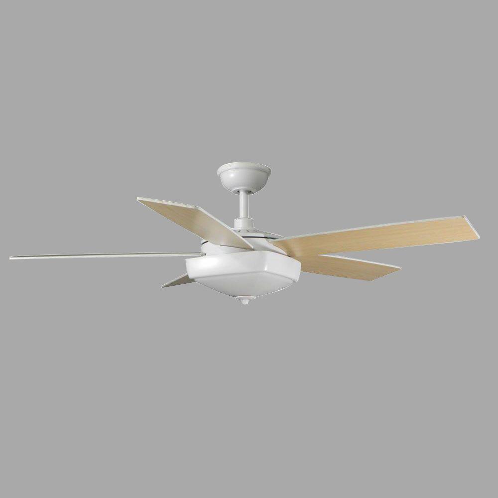 Hampton Bay Bennington 52 in. Matte White Ceiling Fan