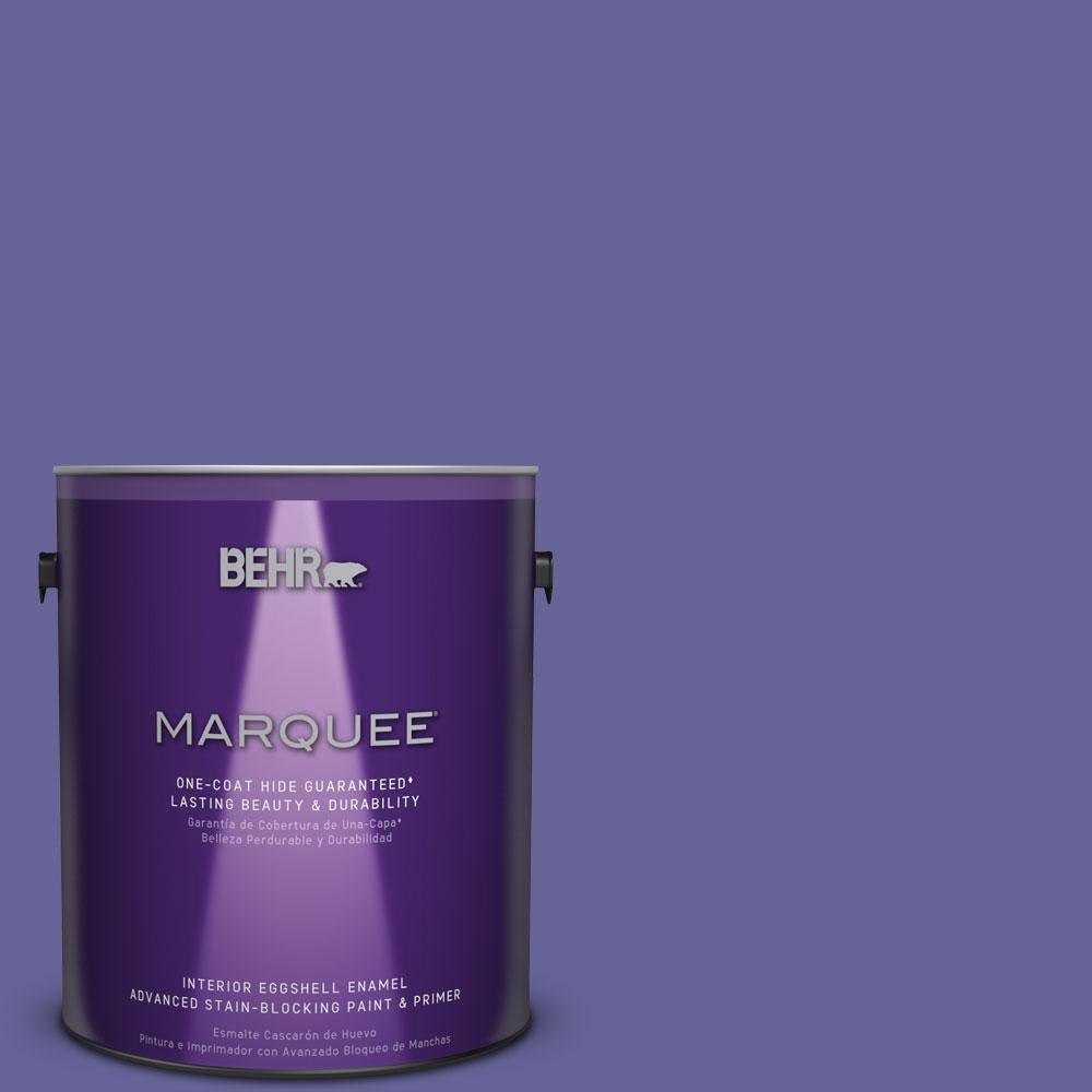 1 gal. #T15-13 Prime Purple Eggshell Enamel Interior Paint