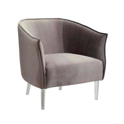 Donostia Contemporary Gray Finish Accent Chair