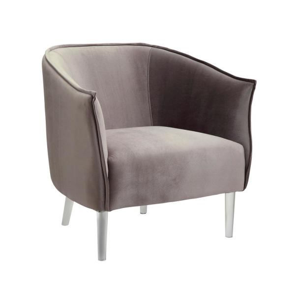 Donostia Contemporary Gray Finish Accent Chair CM-AC6348GY