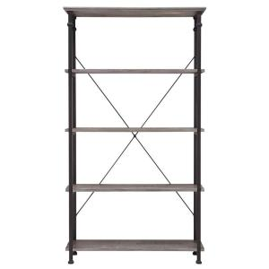 Grove Place Weathered Grey Open Bookcase