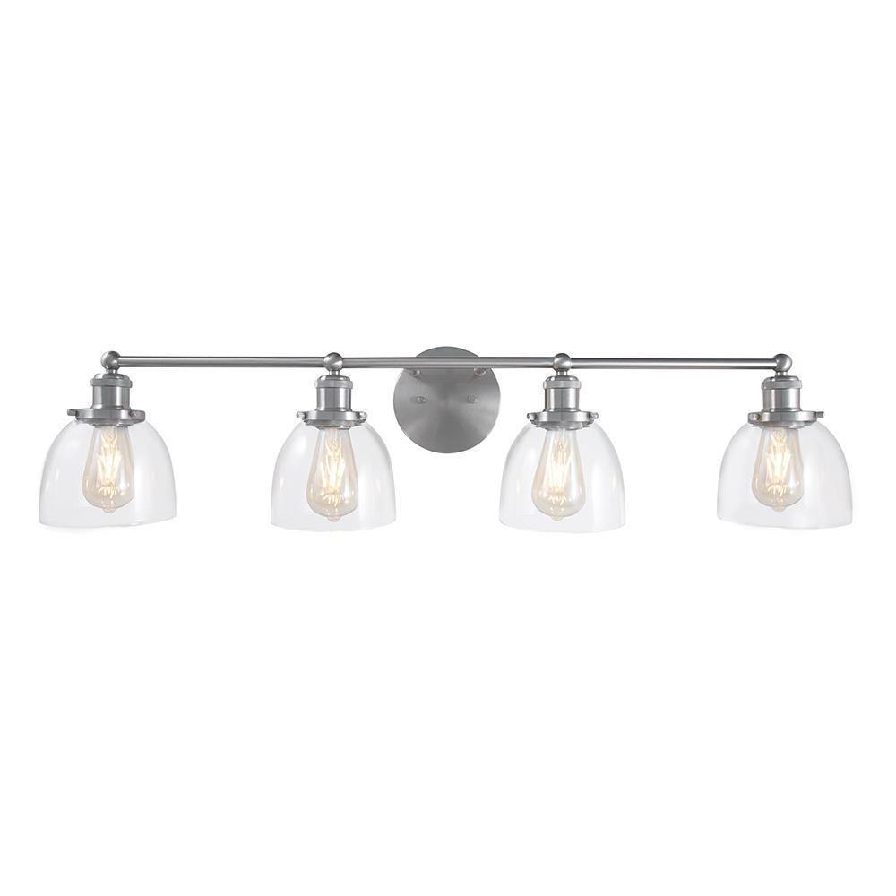 Evelyn 4-Light Brushed Nickel Vanity Light
