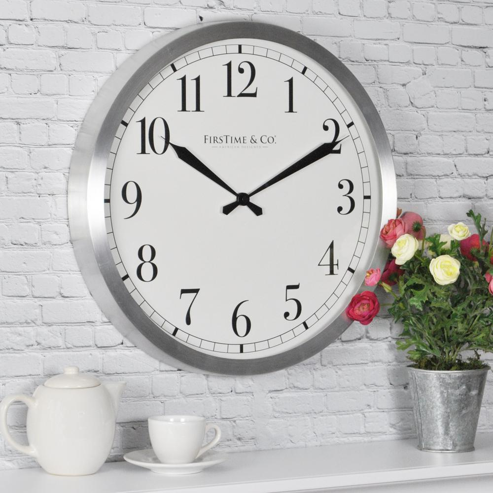 Firstime 1575 in soho steel wall clock 31019 the home depot soho steel wall clock amipublicfo Images