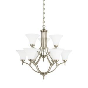 Sea Gull Lighting Montreal 9-Light Antique Brushed Nickel Chandelier with LED... by Sea Gull Lighting