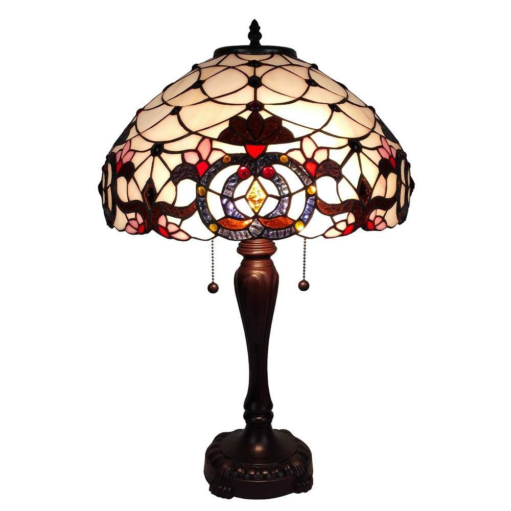 Amora Lighting 24 in. Tiffany Style Floral Table Lamp