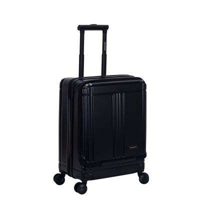 Tokyo 18 in. Black Expandable Hard Side Spinner Carry on Laptop with TSA Lock