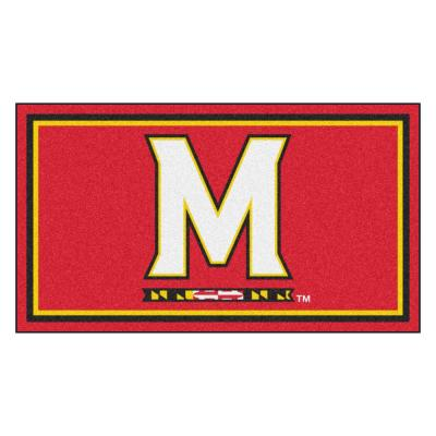 NCAA University of Maryland 3 ft. x 5 ft. Ultra Plush Area Rug