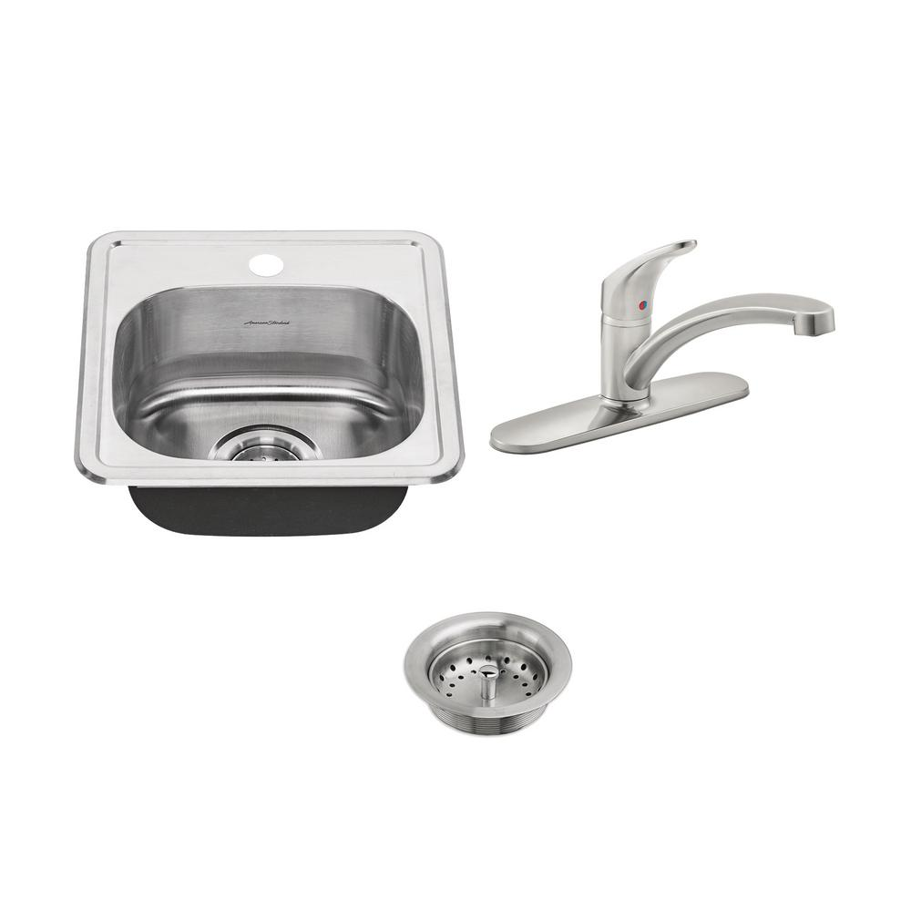 American Standard Colony ADA All-in-One Drop-In Stainless Steel 15 ...