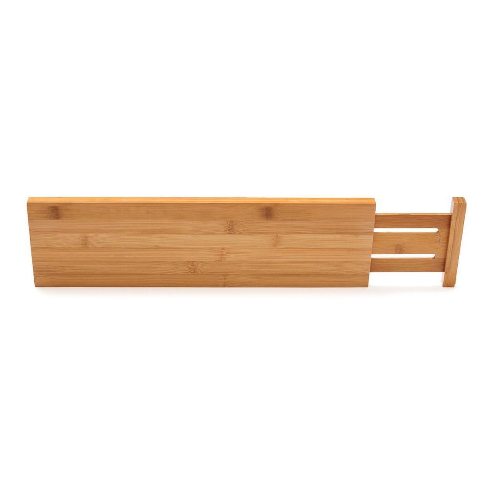 Bamboo Custom Fit Drawer Dividers (Set of 2)