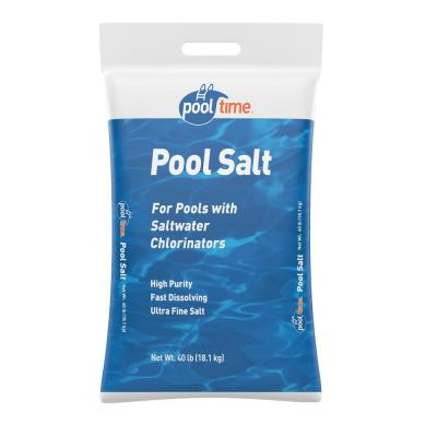 Pool Time 40 Lb Pool Salt Bag 40b Ptmpool The Home Depot
