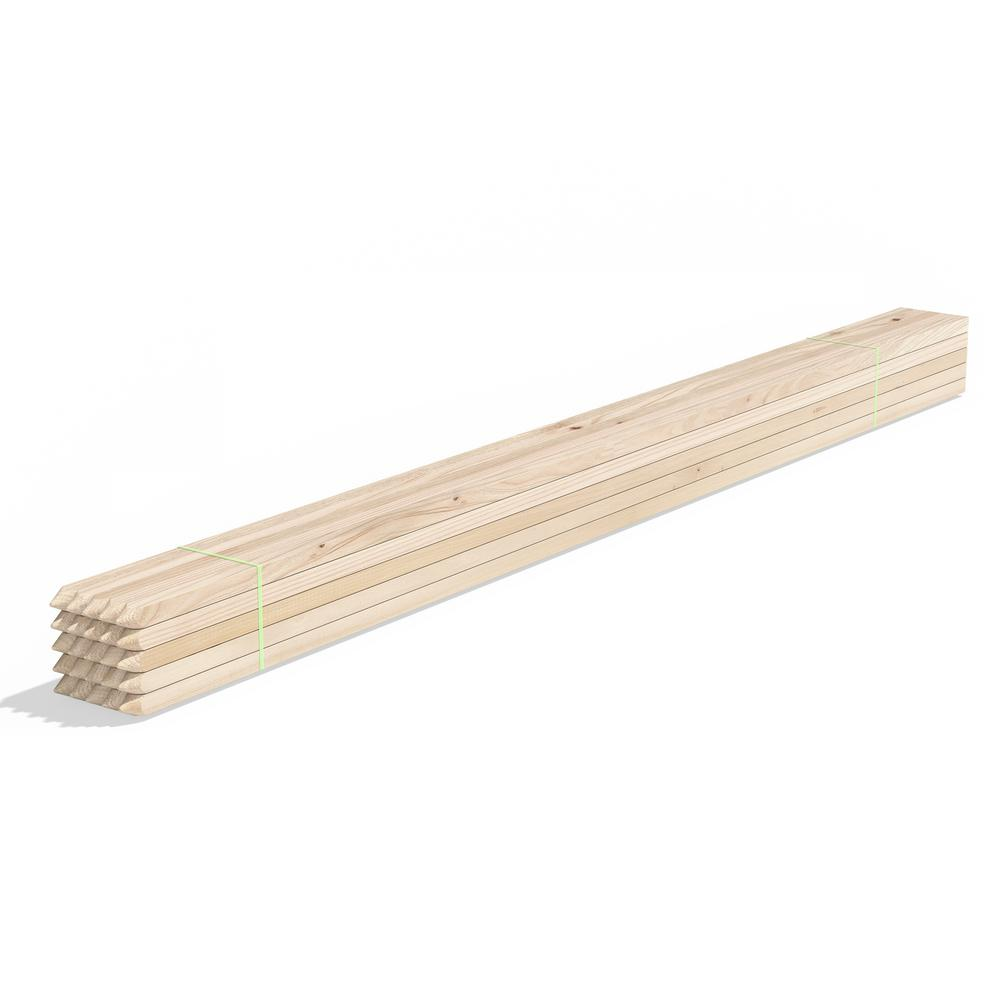 Greenes Fence 5 ft. Wood Garden Stake (25-Pack)