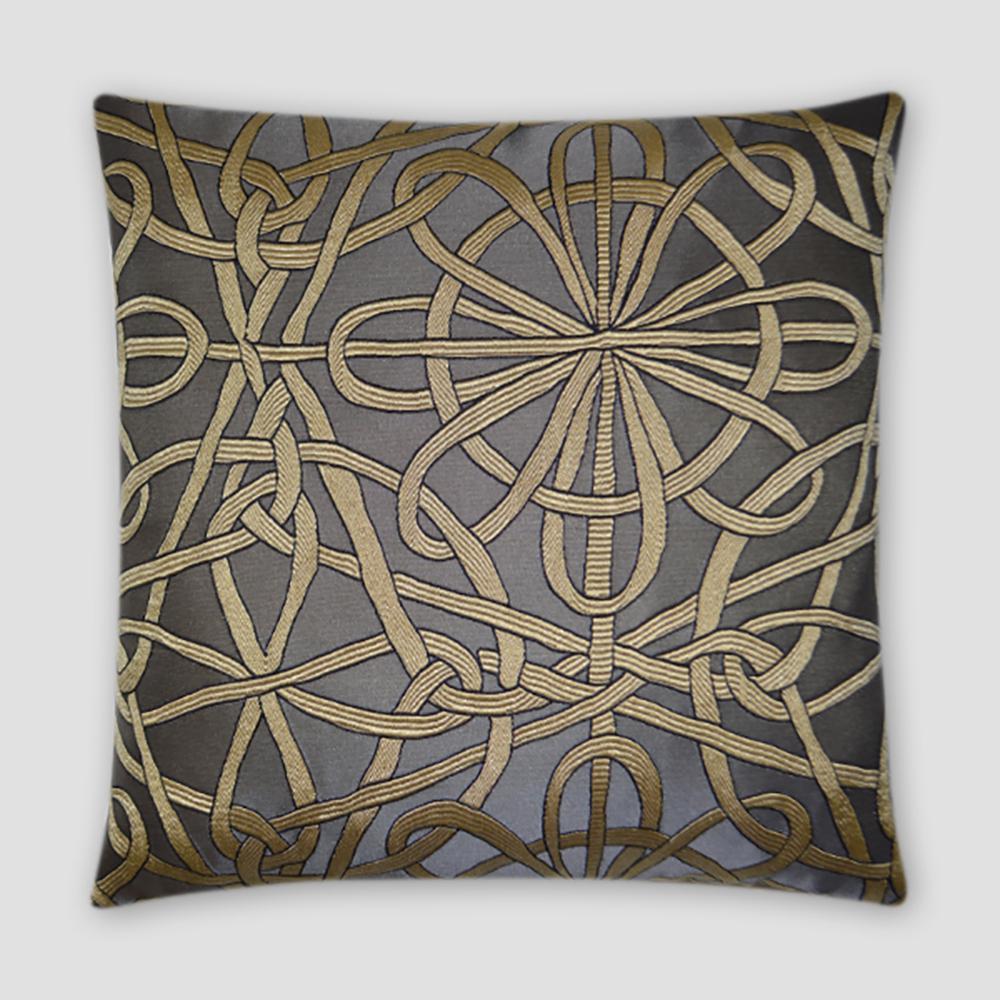 Slip Charcoal Geometric Down 20 in. x 20 in. Throw Pillow