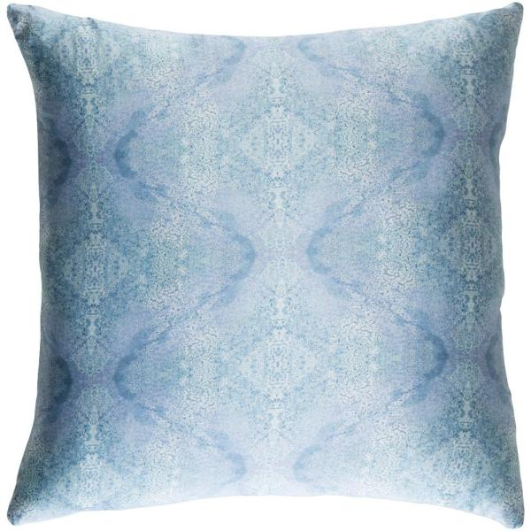Collingwood Blue Graphic Polyester 22 in. x 22 in. Throw Pillow