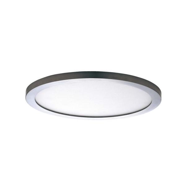 Wafer 10 in. Satin Nickel Integrated LED Flushmount Light