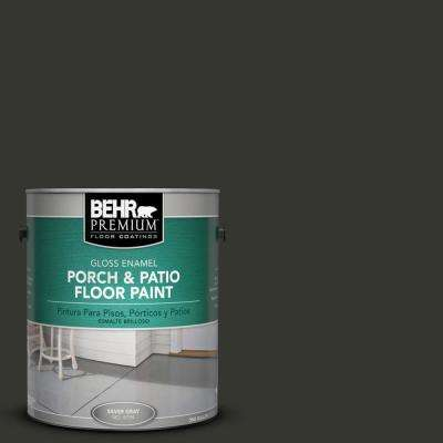 1 gal. #PPF-59 Raven Black Gloss Porch and Patio Floor Paint