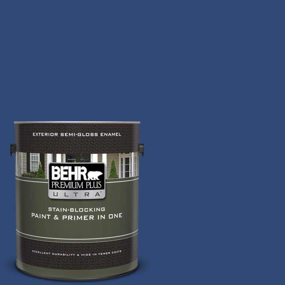 Behr Premium Plus Ultra 1 Gal S H 580 Navy Blue Semi Gloss