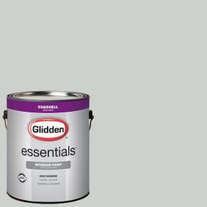 Glidden Essentials 1 Gal Hdgcn10 Barely Jade Eggshell Interior Paint Hdgcn10e 01en The Home Depot