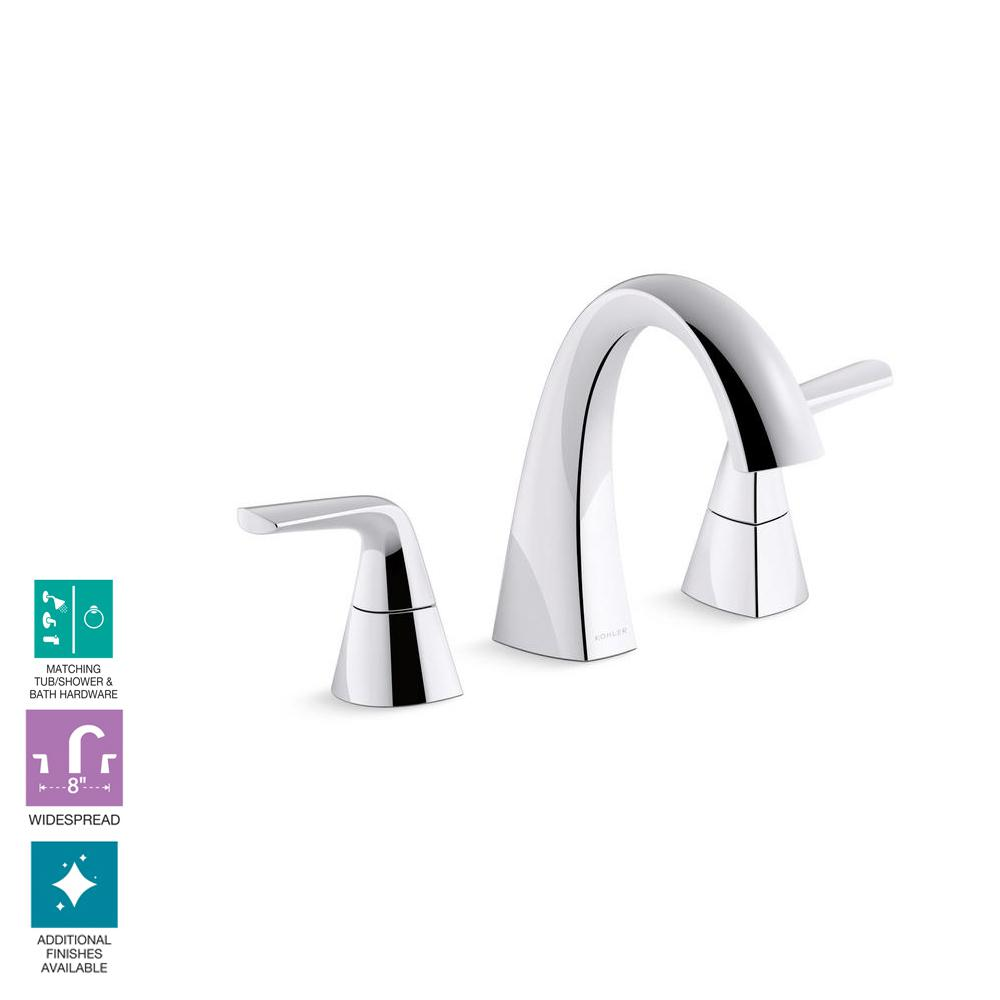 Kohler Elmbrook 8 In Widespread 2 Handle Bathroom Faucet In