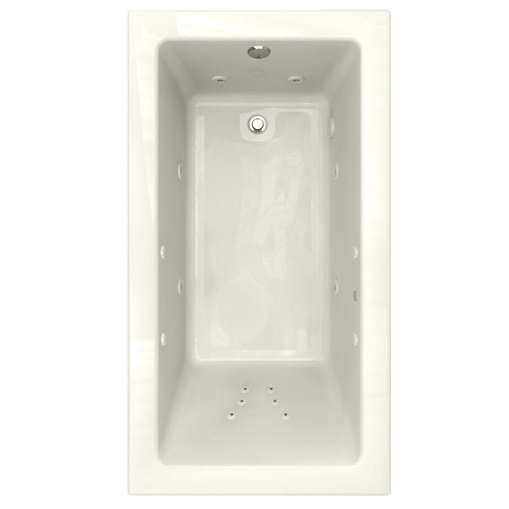 American Standard Studio EcoSilent 5.5 ft. Whirlpool Tub with 2 in. Edge Profile in Linen