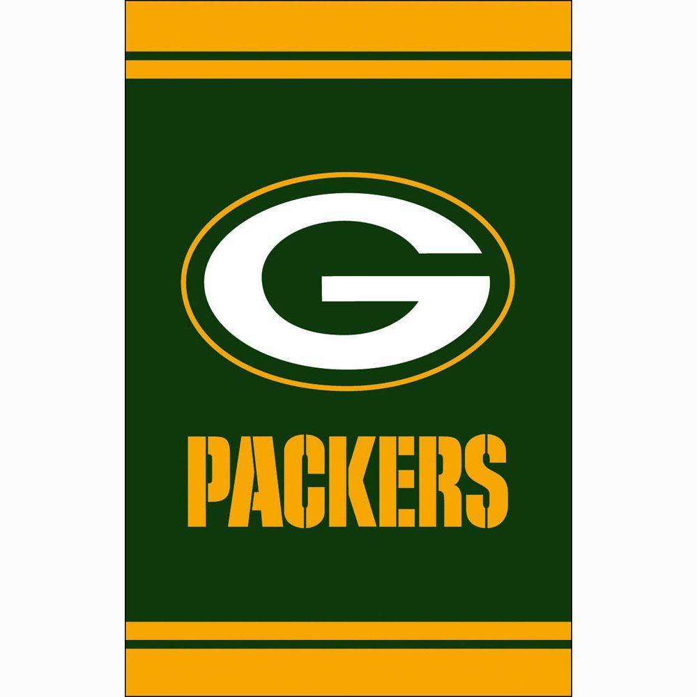 Fan Essentials 1 Ft X 1 1 2 Ft Green Bay Packers 2 Sided Fiber Optic Garden Flag With 3 2 3 Ft