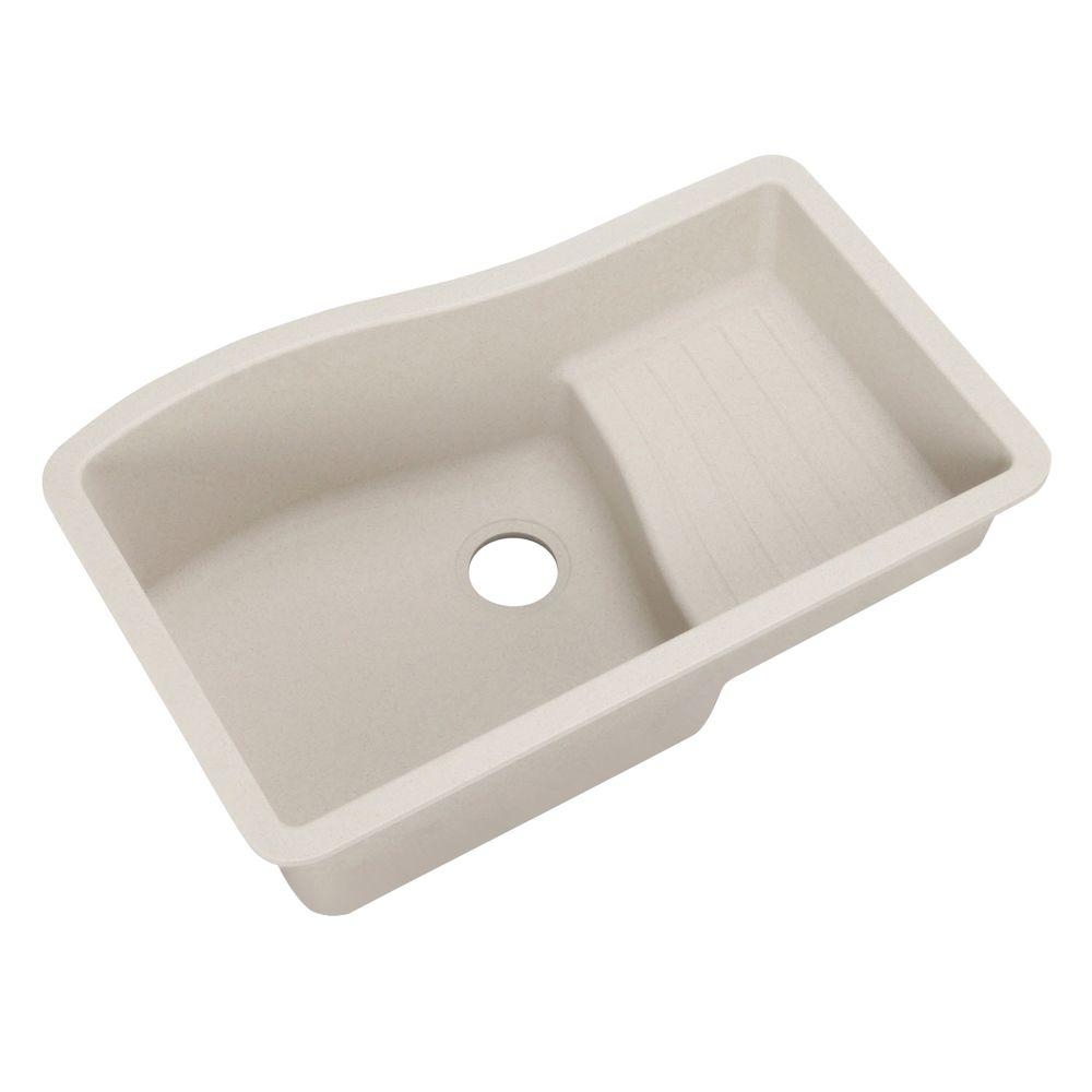 Swan Ascend Undermount Granite 32 in. 0-Hole Single Bowl Kitchen Sink in Granito