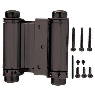 3 in. x 3 in. Oil-Rubbed Bronze Double-Action Spring Door Hinge