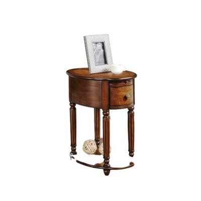 Amelia Oak Rubber Wood Side Table