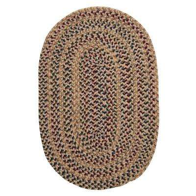 Winchester Oatmeal 2 ft. 3 in. x 3 ft 10 in. Oval Braided Area Rug