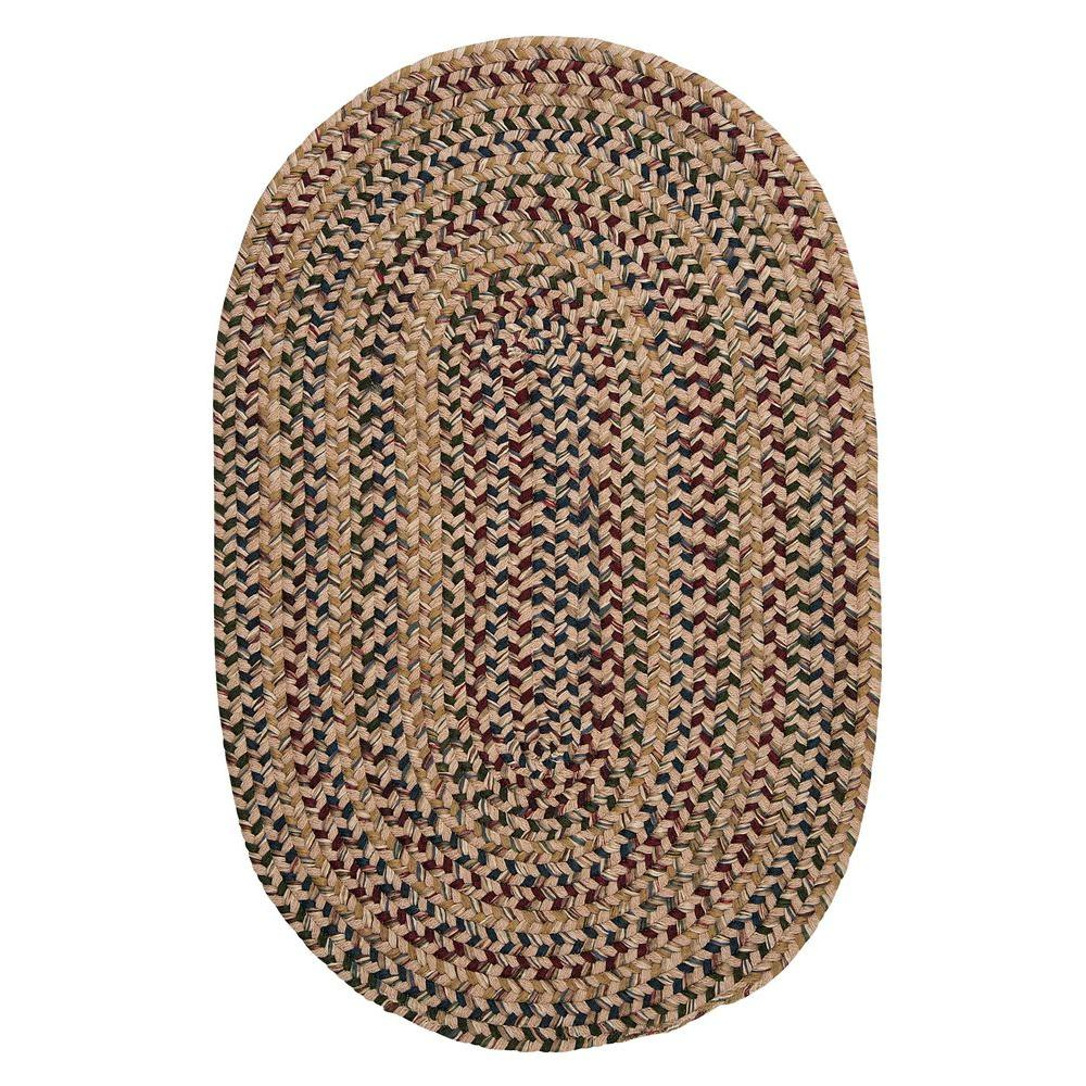 Home Decorators Collection Winchester Palm 8 Ft X 10 Oval Braided Area Rug 3353730640 The Depot