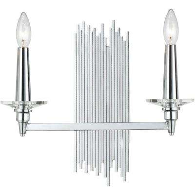 8214 2-Light Chrome Sconce