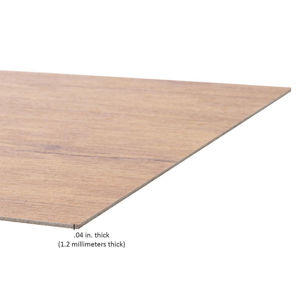 Floor Planks Do it Yourself Peel N Stick Vinyl Wood Look Planks 6 x 36, Saddle