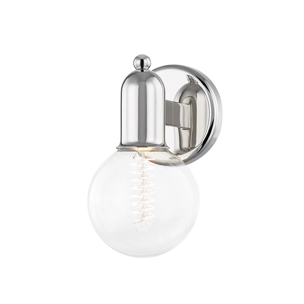 Bryce 4.75 in. 1-Light Polished Nickel Vanity-Light