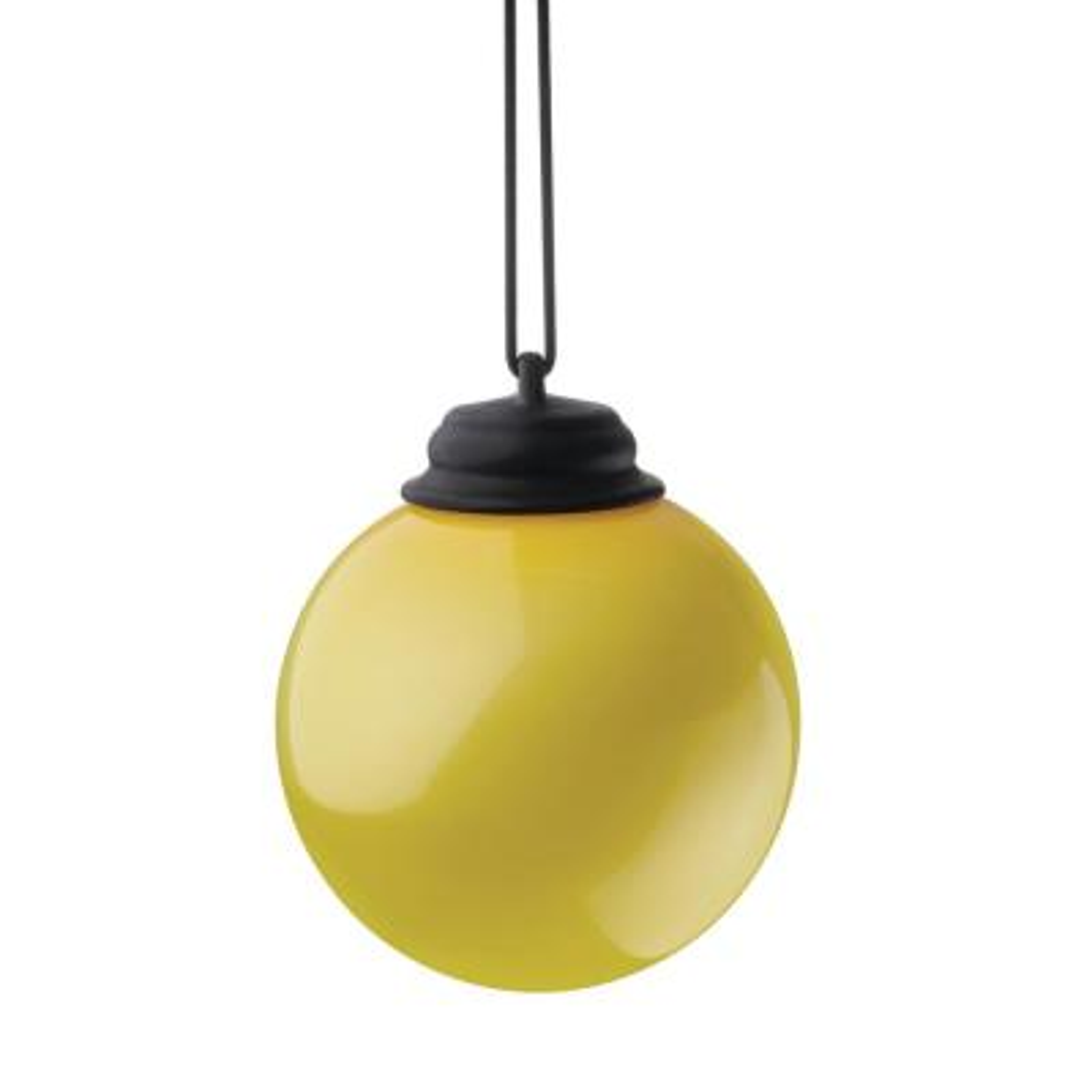 5 in. Yellow LED Hanging Patio Globe