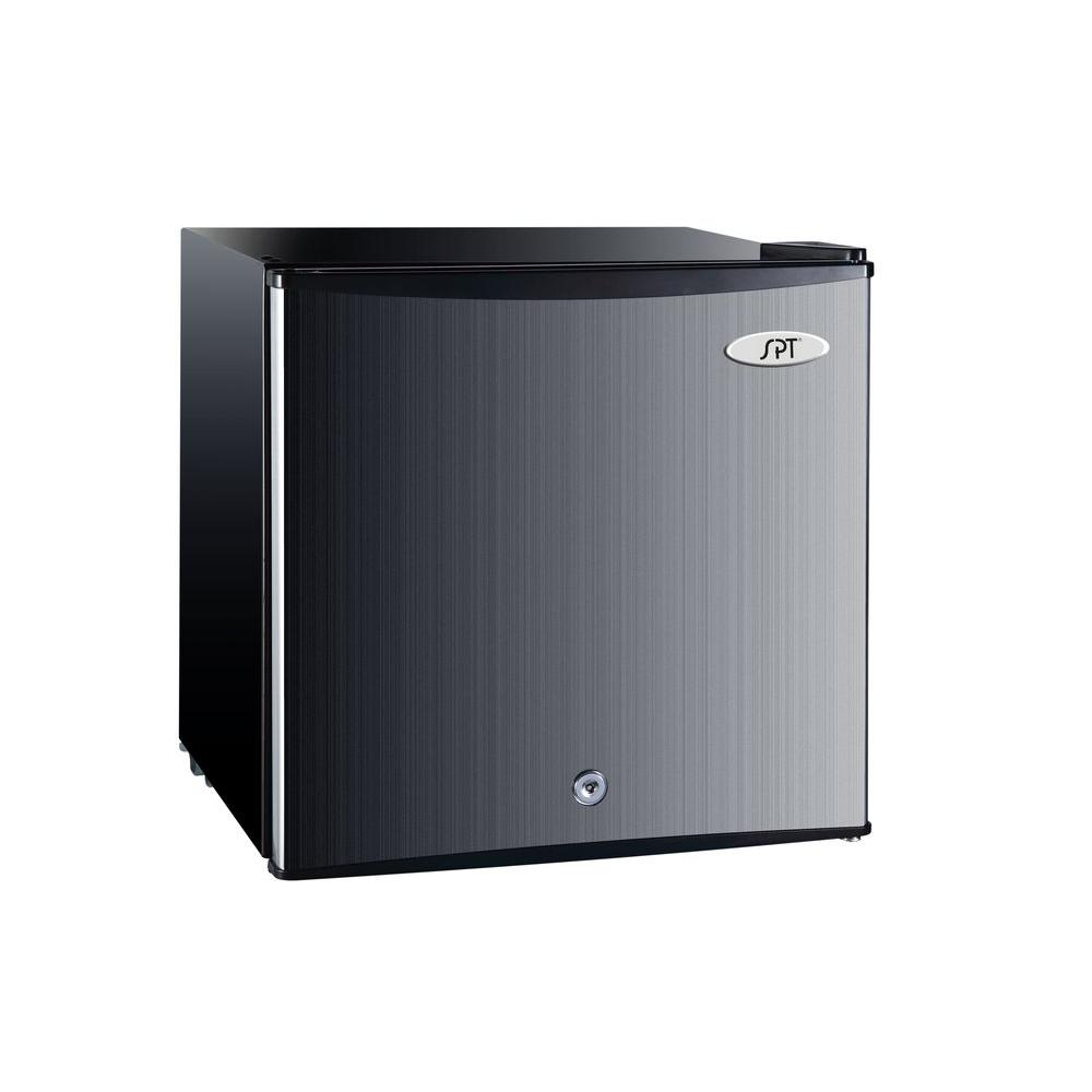 SPT 1.1 cu. ft. Upright Compact Freezer in Stainless