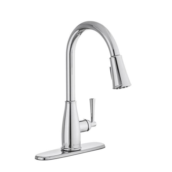 Fairhurst Single-Handle Pull-Down Sprayer Kitchen Faucet with TurboSpray and FastMount in Chrome
