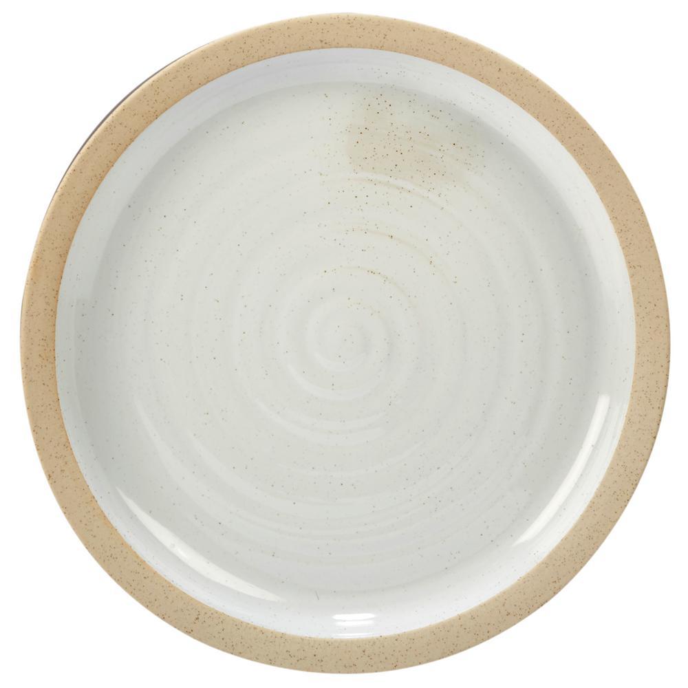 Artisan Multi-Colored 14 in. x 1.5 in. Ceramic Round Platter