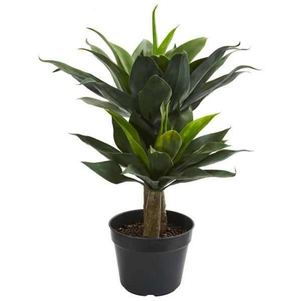 Nearly Natural Indoor 29 in. Double Agave Succulent Artificial Plant 8162