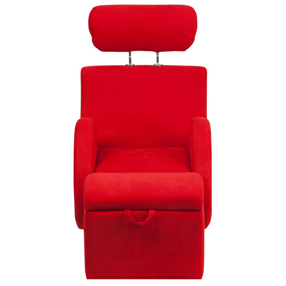 Flash Furniture Hercules Series Red Fabric Rocking Chair With Storage Ottoman Ld2025rdfab The